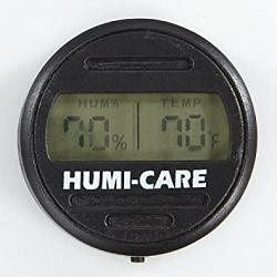 Humi Care Black Ice Round Digital Hygrometer